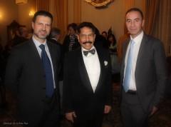 S.E. August Paregkuan con Alessio Ferrari Angelo Comneno e Giuseppe Pietrafesa