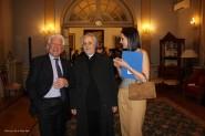 Antonio Marini con il principe Francesco Caracciolo e Nadine di Koefia