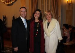 Cristina con Elena Aceto di Capriglia e Giuseppe Pietrafesa