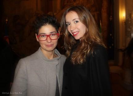 Maria Elena Capitanio e la fashion blogger Sonia Rondini