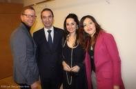 La principessa Sabrina Sforza Galitzia e Sabina Cuccaro con Giuseppe Pietrafesa e Antonio Valentino