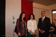 L'artista Hadeel Azeez e il Consigliere Dr. Abdulsalam Al-Ani