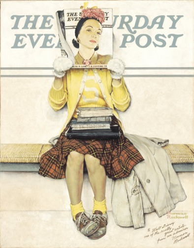 Rockewell_Girl_Reading_the_Post