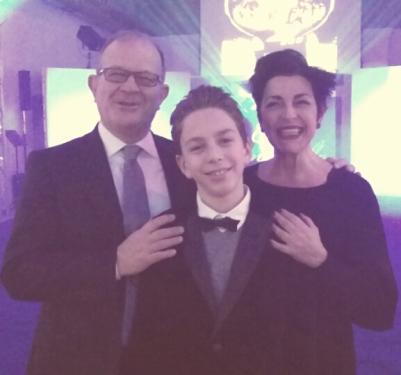 Ritratto di famiglia: Patrizia Vacalebri con Fausto e Oleg Magnarelli