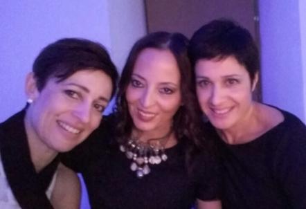 Angelina con Grazia Marino e Daniela Camaiani